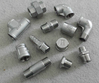 STAINLESS STEEL 316 PIPE FITTINGS NPT 1/8  To 2  - RATED 150lb • 2.30£