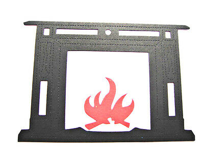 6 Large Fireplace, Christmas Die Cuts, From My Wooden Die. Any Colour/Card! • 3.05£