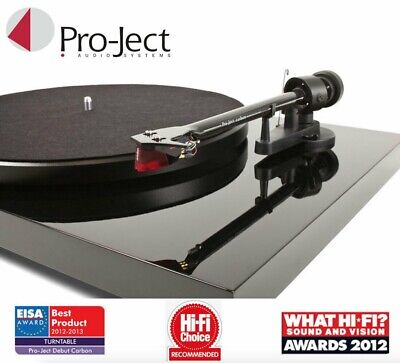 £299 • Buy Pro-ject Debut Carbon DC Turntable Player + Ortofon 2M Red Stylus In Gloss Black