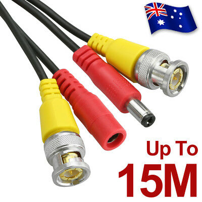 AU13.45 • Buy 5M 10M 15M BNC Video DC Power Extension Cable Cord For CCTV Security Camera DVR
