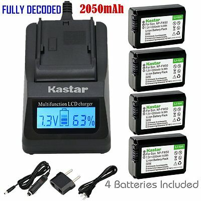 $ CDN81.32 • Buy FW50 Battery&Fast Charger For Sony Alpha A6000, Sony Cyber-shot DSC-RX10,SLT-A33