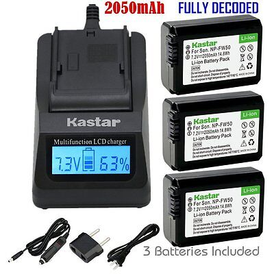 $ CDN71.99 • Buy FW50 Battery&Fast Charger For Sony Alpha A6000, Sony Cyber-shot DSC-RX10,SLT-A33