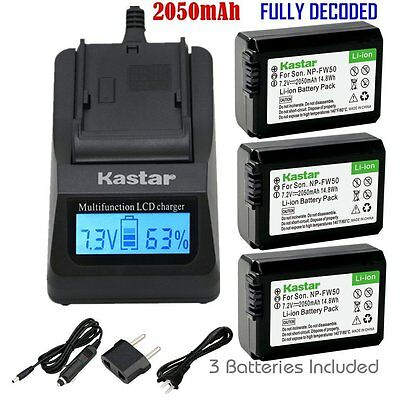 $ CDN65.33 • Buy FW50 Battery&Fast Charger For Sony Alpha A6000, Sony Cyber-shot DSC-RX10,SLT-A33