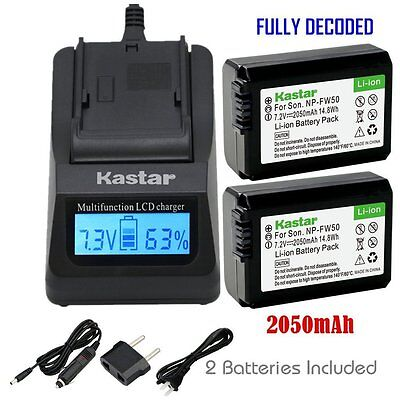 $ CDN61.32 • Buy FW50 Battery&Fast Charger For Sony Alpha A6000, Sony Cyber-shot DSC-RX10,SLT-A33