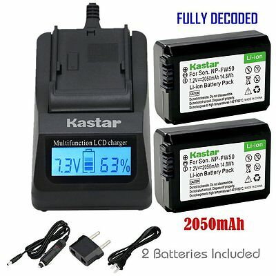 $ CDN55.65 • Buy FW50 Battery&Fast Charger For Sony Alpha A6000, Sony Cyber-shot DSC-RX10,SLT-A33