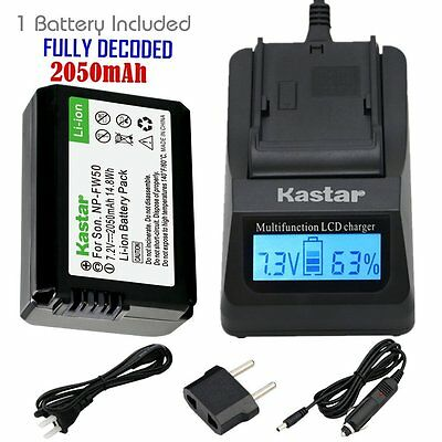 $ CDN47.99 • Buy FW50 Battery&Fast Charger For Sony Alpha A6000, Sony Cyber-shot DSC-RX10,SLT-A33