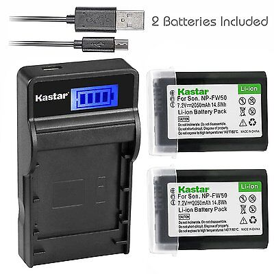 $ CDN22.98 • Buy FW50 Battery& LCD Charger For Sony Alpha A6000, Sony Cyber-shot DSC-RX10,SLT-A33