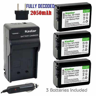 $ CDN29.32 • Buy NP-FW50 Battery & Regular Charger For Sony Alpha A6000, Sony Cyber-shot DSC-RX10