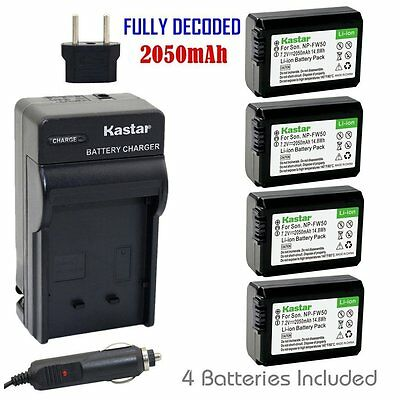 $ CDN35.99 • Buy NP-FW50 Battery & Regular Charger For Sony Alpha A6000, Sony Cyber-shot DSC-RX10