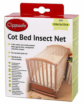 £15.83 • Buy Children Protect Prevent Insect Cat Net Secure Mesh Ease Sleep Safe Cot Bed Clip