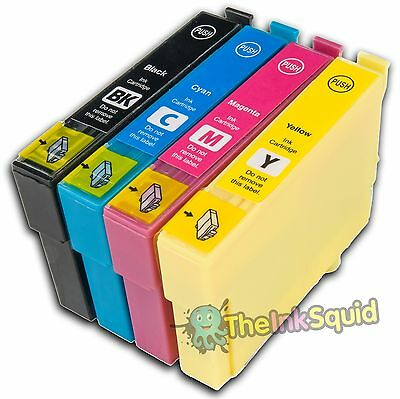 £4.99 • Buy 4 Compatible Ink Cartridges With Chips For Epson Stylus Printers (non-oem)