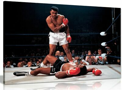Muhammad Ali Boxing Sonny Liston Canvas Wall Art Picture Print • 24.99£