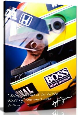 Ayrton Senna Quote F1 Canvas Wall Art Picture Print • 19.99£