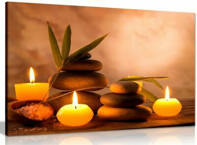 £11.99 • Buy Aromatic Candles & Zen Stones Canvas Wall Art Picture Print
