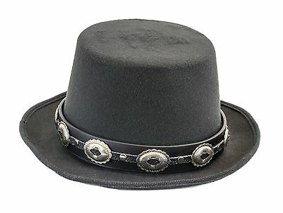 £25.17 • Buy Vintage Concho Leather Band Wool Top Hat Premium Quality Party On! Slash Hat
