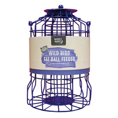 Kingfisher Squirrel Proof Guard Bird Fat Ball Feeder Garden Hanging Tray Bf007fb • 11.49£