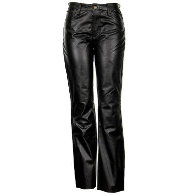 3360e6be30 Womens Black Buffalo Leather Pants XS679 By Xelement • 104.95