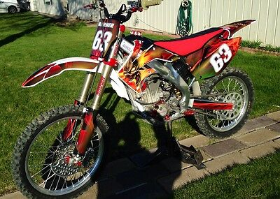 $149 • Buy CRF 250R Graphics For Honda Fits 2004 2005 2006 2007 2008 2009 #6666N