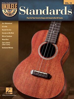 AU14.83 • Buy Standards Sheet Music Ukulele Play-Along Book And CD NEW 000702835