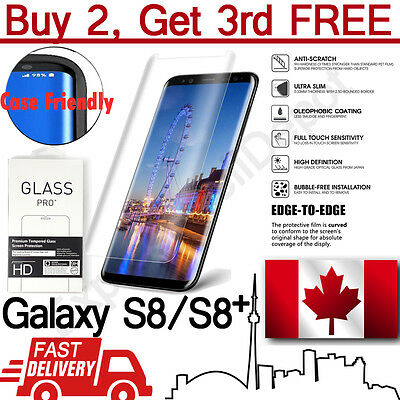$ CDN7.99 • Buy Clear Curved Case Friendly Tempered Glass Screen Protector Samsung Galaxy S8/S8+
