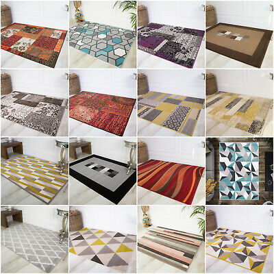 Affordable Modern Living Room Rugs Durable Thin Easy Clean Trendy Cheap Area Rug • 9.32£