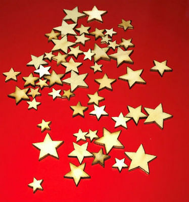 £2.85 • Buy Plywood Wooden 50pack Stars Shape Craft Scrapbooking Ply Wood Star Embellishment