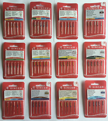 Singer Sewing Machine Needles - All Styles / Sizes - Domestic Standard Ballpoint • 5.25£