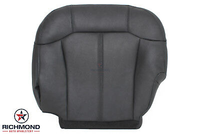 $189 • Buy 2001 GMC Sierra 2500HD-Driver Side Bottom Replacement Leather Seat Cover DK GRAY