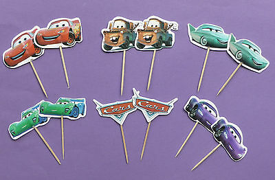 DISNEY CARS CAKE TOPPERS PICKS Birthday Party Lightning McQueen Mater Choose No  • 4.75£