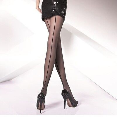 £4.54 • Buy Sexy Seamed Back Line Patterned Sheer Tights  Iga  Pantyhose - 20 Den