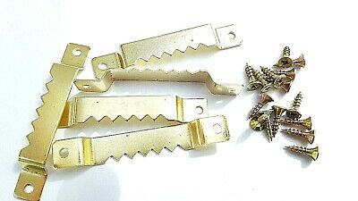 Picture Sawtooth Hanger With Screws 63mm Canvas Frame Hook Multi Listing • 3.19£