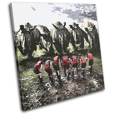 £49.99 • Buy Rugby League Funny Rhino Union Sports SINGLE CANVAS WALL ART Picture Print