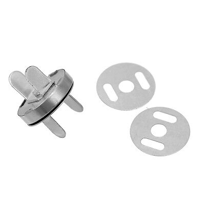 4 Sets Silver Large Magnetic Snap Clasps For Purses Or Bags Closure, Fastening • 2.60£