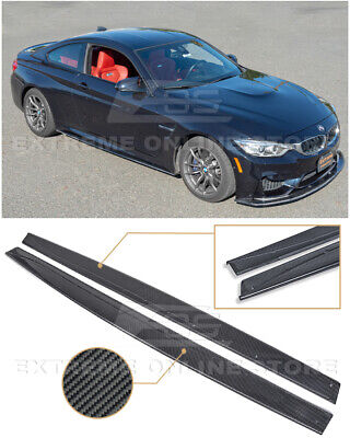 $329.98 • Buy For 15-20 BMW F82 M4 Performance Style CARBON FIBER Side Skirts Panel Extension
