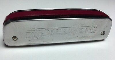 $32.99 • Buy *Vintage* M. Hohner Golden Melody Harmonica Key Of C - Made In Germany Rare
