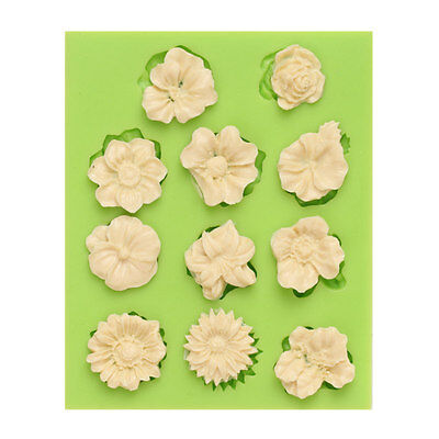 Silicone Flower Mould Cake Decor Icing Sugar Paste Chocolate  Mould UK SELLER 11 • 4.99£
