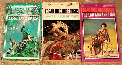$13.99 • Buy Edgar Rice Burroughs John Carter Of Mars, Lost On Venus & Lad And The Lion Pb's