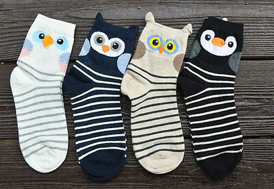 £3.65 • Buy Striped Cute Owl Bird Ladies Womens Girls Socks Combed Cotton Great Quality