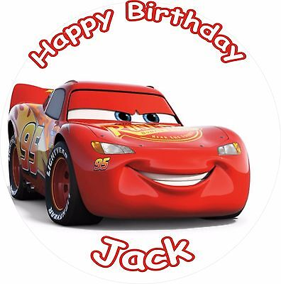 Lightning Mcqueen Cars 3 2017 Round 7.5   Cake Topper Icing Or Ricepaper • 2.99£