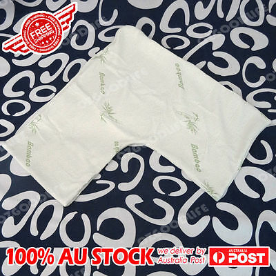 AU25.99 • Buy Pillow Cover Boomerang/V/TRI Shape Bamboo Pillow Fabric Cover Case AU STOCK
