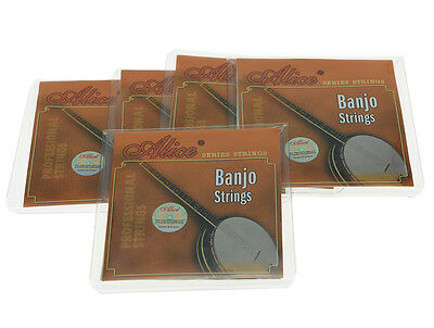 AU13.46 • Buy 5 Sets Plated Steel 5 String Banjo Strings Coated Copper Alloy Wound String