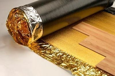30m2 Super/Sonic Gold 5mm - Acoustic Underlay With DPM For Wood & Laminate Floor • 49.99£