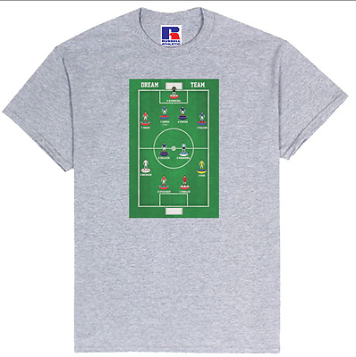 Subbuteo Style Dream Team T-shirt - Pick Your Own Players & Kit From Any Season • 28£