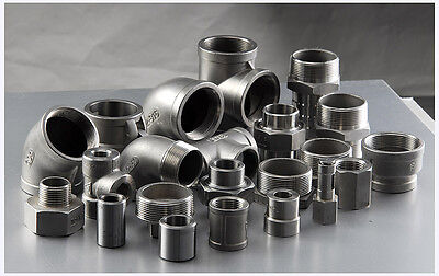 STAINLESS STEEL 316 PIPE FITTINGS 150LB BSP 1/8  To 4  - VAT INVOICE PROVIDED • 6.29£