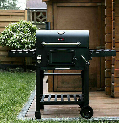 CosmoGrill Barbecue BBQ Outdoor Charcoal Smoker Portable Grill Garden 124x66x114 • 149.99£