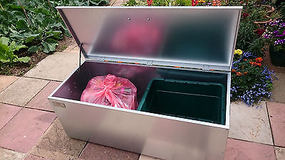Recycling And Waste Storage Box Vermin Proof And Keeps Your Garden Tidy • 139£