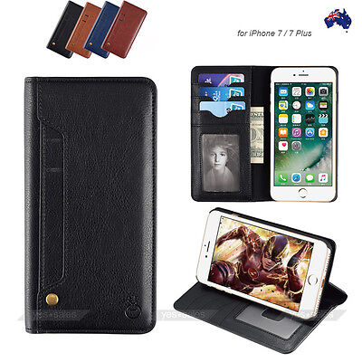 AU13.67 • Buy IPhone X 6s 7 8 Plus Case Card Magnetic Leather Wallet Card Holder Case Cover