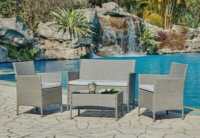 £229.99 • Buy Rattan Garden Furniture Set Conservatory Patio Outdoor Table Chairs Sofa Cover