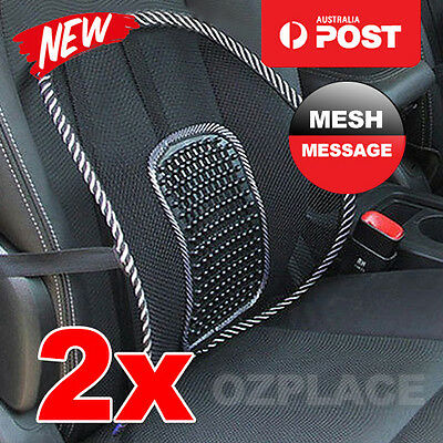 AU14.95 • Buy 2x Mesh Lumbar Back Support Cushion Seat Posture Corrector Car Office Chair Home