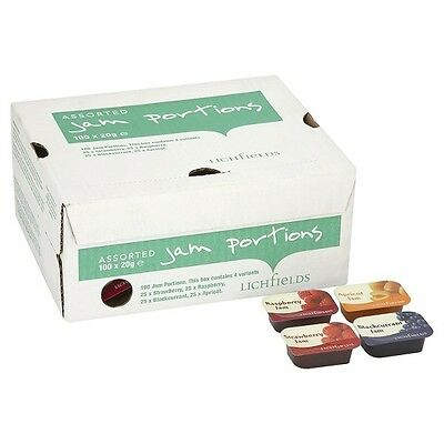 Lichfields Assorted Jam Portions 100 X 20g Individual Portions • 18.95£